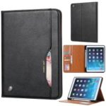 PU Leather Stand Wallet Protective Case with Pen Slot for iPad mini (2019) 7.9 inch/iPad 9.7-inch (2018)/9.7-inch (2017)/Air (2013)/Air 2 – Black