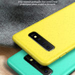 Matte Wheat Straw TPU Protection Phone Case for Samsung Galaxy S10 – Yellow