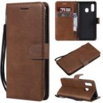 Magnetic Detachable 2-in-1 Wallet Leather Stand Case for Samsung Galaxy A40 – Brown