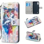 Light Spot Decor Patterned Leather Wallet Case for Samsung Galaxy M10/A10 – Colorized Owl