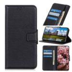 For Samsung Galaxy S10 Litchi Texture PU Leather Protective Shell with Wallet Stand – Black