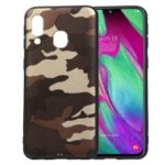 For Samsung Galaxy A40 Camouflage Pattern TPU Phone Case – Brown