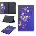 Pattern Printing Wallet Stand Leather Case for Samsung Galaxy Tab A 10.1 (2019) T510 – Purple Butterflies