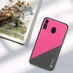 PINWUYO Honor Series PU Leather Coated TPU Cover for Samsung Galaxy M30 – Rose