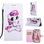 Pattern Printing Leather Wallet Case for Samsung Galaxy A10/M10 – Female Unicorn