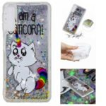 For Samsung Galaxy A50 Embossment Pattern Quicksand TPU Phone Cover – I Am A Caticorn