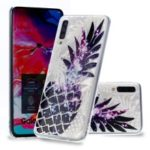 Embossed Pattern 3D Diamond Texture Soft TPU Back Case for Samsung Galaxy A50 – Pineapple