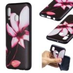 Embossment Patterned TPU Case Accessory for Samsung Galaxy A40 – Pretty Flower
