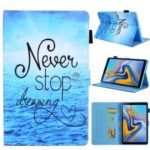 Pattern Printing PU Leather Card Holder Tablet Stand Case for Samsung Galaxy Tab A 10.1 (2019) SM-T510/SM-T515 – Sea