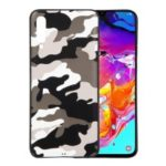 Camouflage Pattern TPU Soft Phone Cover for Samsung Galaxy A70 – White