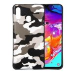 Camouflage Pattern TPU Soft Phone Cover for Samsung Galaxy A60 – White