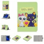 Universal Patterned 7-inch PU Leather Wallet Stand Tablet Case for Samsung Galaxy Tab A 7.0 / Huawei MediaPad M2 7.0 etc – Two Cats