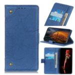 Retro Style Leather Magnetic Stand Wallet Case for Samsung Galaxy A90 / A80 – Blue