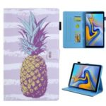 Pattern Printing Stand Leather Tablet Cover for Samsung Galaxy Tab S5e SM-T720 / SM-T725 – Pineapple