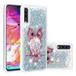 Dynamic Glitter Powder Sequins TPU Phone Case for Samsung Galaxy A70 – Owl