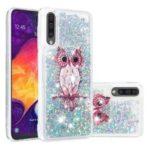 Dynamic Glitter Powder Sequins TPU Phone Shell for Samsung Galaxy A50 – Owl