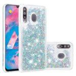 Dynamic Glitter Powder Sequins TPU Back Casing for Samsung Galaxy M30/A40s – Silver