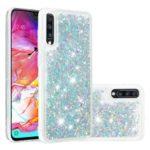 Dynamic Glitter Powder Sequins TPU Shell for Samsung Galaxy A70 – Silver
