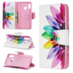 Pattern Printing Leather Wallet Case for Samsung Galaxy A20e – Colorful Petals
