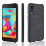 PU Leather Coated TPU + PC Back Phone Casing for Samsung Galaxy A2 Core – Black