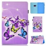 Pattern Printing PU Leather Flip Stand Case for Samsung Galaxy Tab S5e SM-T720 – Colorful Butterflies