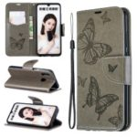 For Huawei P Smart (2019) / Honor 10 Lite PU Leather Imprint Butterflies Phone Case – Grey