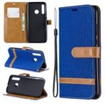 Assorted Color Jeans Cloth Wallet Stand Leather Case for Huawei P Smart Plus 2019 / Enjoy 9s / Honor 10i – Baby Blue