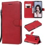 Magnetic Detachable 2-in-1 Wallet Leather Stand Casing for Huawei P30 Lite / nova 4e – Red