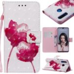 Light Spot Decor Patterned Leather Wallet Case for Huawei P30 Lite / nova 4e – Vivid Flowers