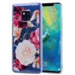 Glitter Sequins Inlaid Pattern Printing TPU Case for Huawei Mate 20 Pro – Pretty Flowers
