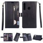 Multi-function Leather Wallet Case with Stand for Huawei P Smart Plus 2019 / Enjoy 9s / Honor 10i / nova 4 lite – Black