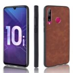 PU Leather Coated TPU + PC Back Phone Cover for Huawei Honor 20 lite / Honor10i – Brown
