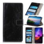 Crazy Horse Vintage Leather Wallet Case for Huawei Nova 5i / P Smart Z / Y9 Prime 2019 – Black