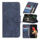 Litchi Skin Leather Wallet Case for Xiaomi Redmi 7 / Redmi Y3 – Blue