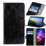 Crazy Horse Rivet Stand Wallet Magnetic Leather Case for Xiaomi Black Shark 2 – Black
