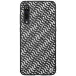 NILLKIN Dazzling PU Leather + PC + TPU Phone Case Cover for Xiaomi Mi 9 – Silver / Black