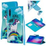 Pattern Printing Leather Wallet Case for Xiaomi Mi 9 – Cute Unicorn