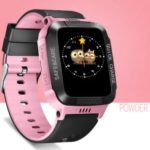 Y1 Children Smart Phone Watch Anti-lost Remote Control Touch Screen SOS Wrist Watch – Black / Pink