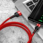 USAMS US-SJ313 U26 3A Type-C Data Cable Charging Cord 1m – Red