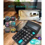 WiFi Calculator 4K HD Remote Wireless Hidden Camera Network Mini Camera – Black