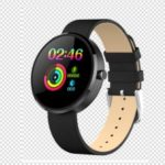 LEMONDA DM78 1.22 inch Color Round Screen Smart Bracelet Female Physiological Cycle Record – Leather Strap