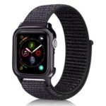 Soft Breathable Nylon Sport Loop Wrist Band Strap for Apple Watch Series 4 40mm – Dark Multi-color