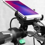 GUB G-85E USB Rechargeable Motorcycle Phone Holder Electric Bike Phone Mount Bike Handlebar Extender 12-24V – Black