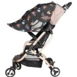 Baby Stroller Sun Rain Shade Awning Waterproof Windproof Anti-UV Umbrella Canopy for Stroller Carriage Seat – Digital Printing
