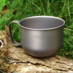 550ml Titanium Outdoor Camping Coffe Cup Picnic Water Mug with Handle