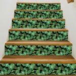 Tropical Plant Creative Stair Wall Sticker Adhesive Room Wallpaper Mural Art Decal 18x100cm