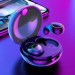 USAMS US-LI001 Bluetooth Binaural Wireless Earphone for Huawei/Sumsang/Xiaomi/Apple Etc – Black
