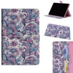 Pattern Printing Light Spot Decor Wallet Stand Flip Leather Tablet Case for iPad Mini (2019) 7.9 inch – Paisley Flower