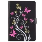 Pattern Printing Wallet Stand Leather Case for iPad mini5 (2019) – Black