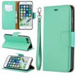 Litchi Skin Leather Wallet Case for iPhone 8 Plus / 7 Plus – Green